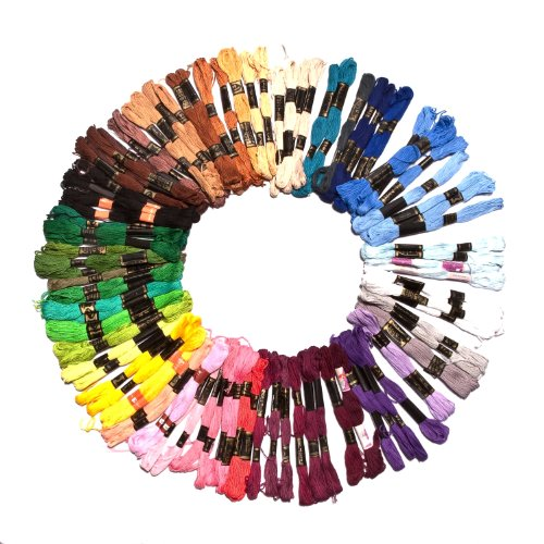 100x8m Stickgarne in verschiedenen Farben von Kurtzy TM