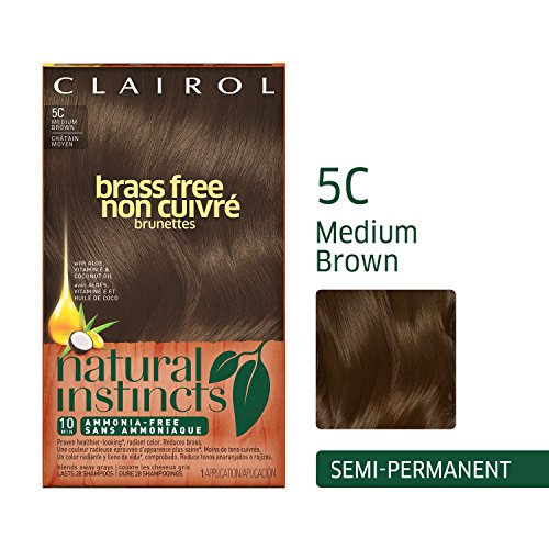 Clairol Natural Instincts Semi-Permanent Hair Color (Pack of 3), 5C Brass Free Medium Brown Color, Ammonia Free, Lasts for 28 Shampoos by Clairol (Image #11)