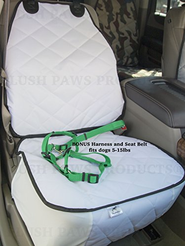 plush paws co pilot pet car seat cover for bucket seats with bonus harness and seat belt for. Black Bedroom Furniture Sets. Home Design Ideas