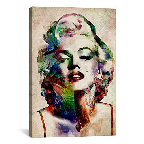Color Monroe Marilyn (SCPmartsUS Watercolor Marilyn Monroe The Classic Arts Reproduction, Art Giclee Print Canvas Wall Decor Art Print on Canvas, Stretched Gallery Wrapped, 12
