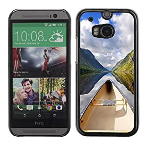 Slim Protector Shell Hard Case Cover for HTC One M8 Nature Beautiful Forrest Green 130 / STRONG