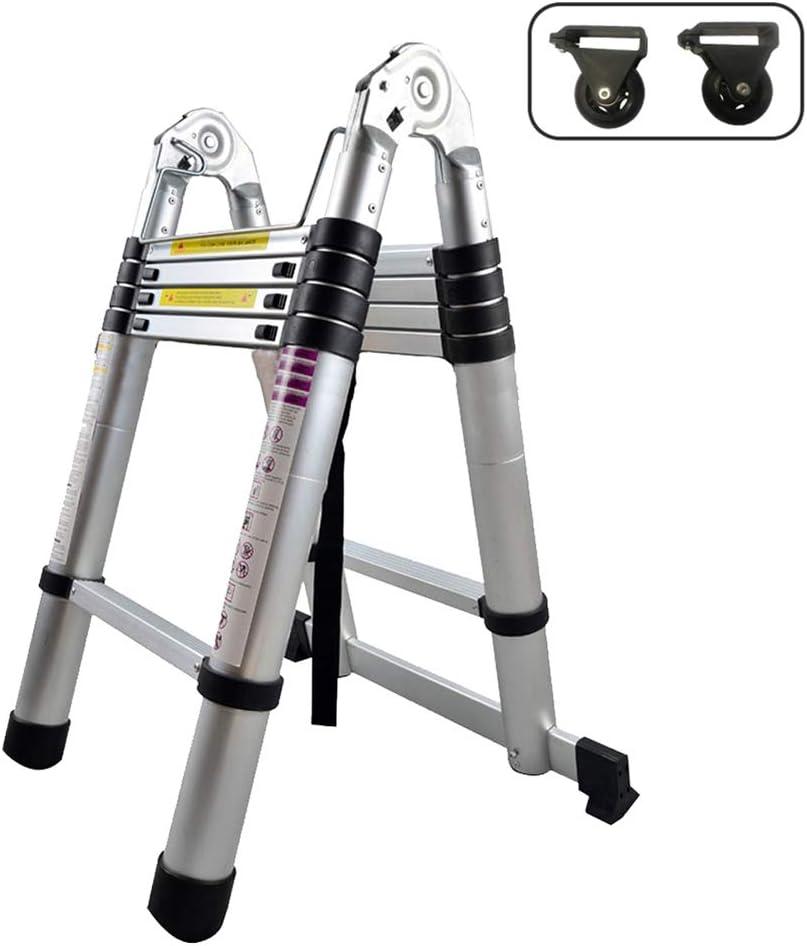 Froadp 320cm Escalera Telescópica Multifuncional Plegable Extensible de Aluminio Capacidad de 150KG para Casa Desván y Oficina: Amazon.es: Bricolaje y herramientas