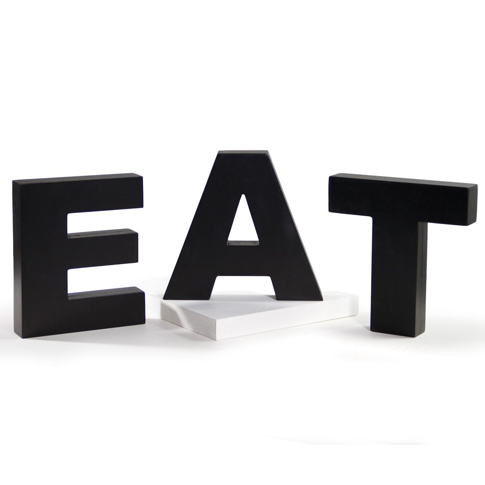Ohio Wholesale Everyday Collection EAT Letters, Set of 3