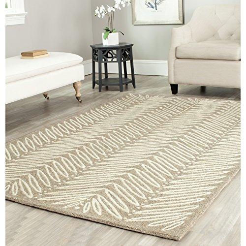 Wool Martha Safavieh Stewart (Safavieh Martha Stewart Collection MSR3612A Premium Wool and Viscose Chamois Beige Area Rug (4' x 6'))