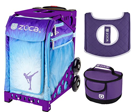 Zuca Ice Dreamz Insert Bag with Purple Frame and Lunchbox with Seat Cushion