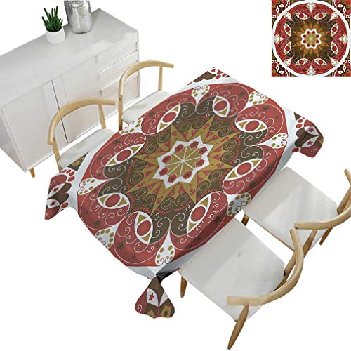 - Classic Decor Tablecloths, Ornamentation Old Victorian Style Historic Interior Design Round Shape Art Pattern Rectangular Fabric Table Cloths for Dining Room Kitchen 60'' x 84'' Olive Burgundy