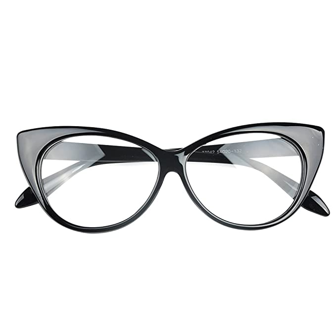 4180ca5bc2 Cute Lovely Cat Eye Glasses Frame Women Fashion Glasses Eyewear Accessories  7 Colors (White)