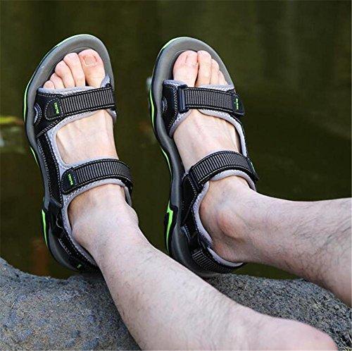 Antiscivolo Scarpe Sandali in 38 Taglia NSLXIE traspirante pelle da a 44 Summer spiaggia vera da EU43 Outdoor uomo Closed da Trekking Traspirante t4ZwZq