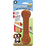 Pet Qwerks Flavorit Peanut Butter Flavor Infused Nylon Chew- Fillable Porous Surface for Spreads, Durable Tough Toys for Aggressive Chewers | Made in USA with FDA Compliant Nylon - for Medium Dogs
