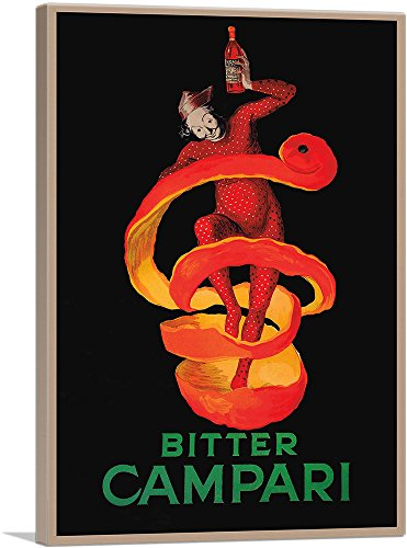 Cappiello Canvas Print - ARTCANVAS Bitter Campari 1921 Canvas Art Print by Leonetto Cappiello- 40