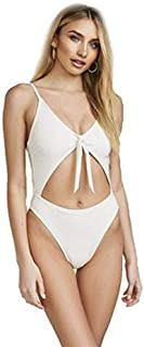 product image for Dippin'Daisy's Tie Front Sexy Hi-Leg Cut Adjustable Straps Cheeky Coverage Bikini for Women