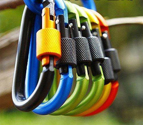 [해외]레베카 10pcs 다채로운 알루미늄 Carabiner D- 링 열쇠 고리 클립 등산 후크 - 임의 색상 (귀하의 일요일 안경에 대 한 1pc 레 베 카 안경 천으로)/Rebecca 10pcs Colorful Alumi