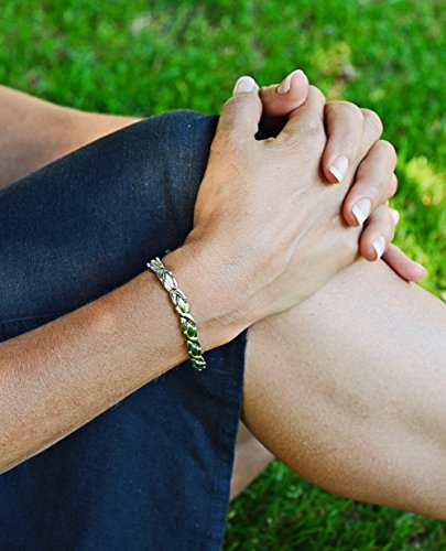Ladies Magnetic Bracelet Silver Finish Natural Pain Relief Therapy by Mind n Body by Mind n Body (Image #2)