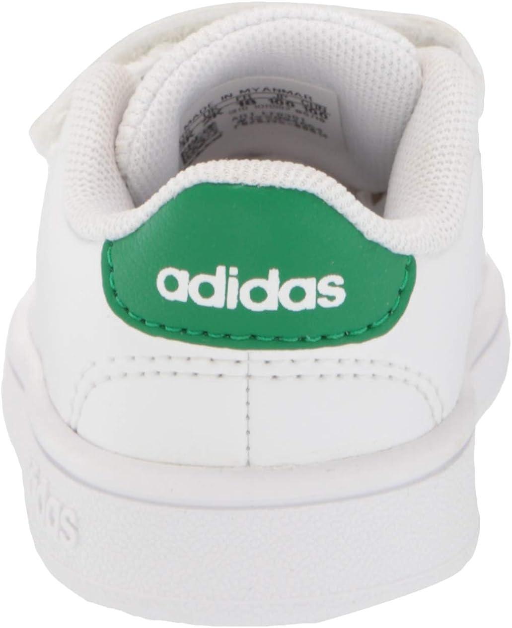 Adidas Advantage Tennisschuh für Kinder Weiß Grün Grau