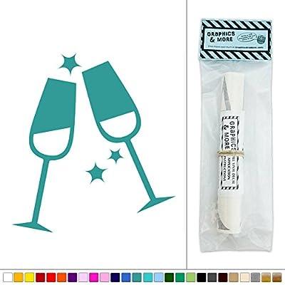Champagne Flutes Wedding Celebration Party Vinyl Sticker Decal Wall Art Décor