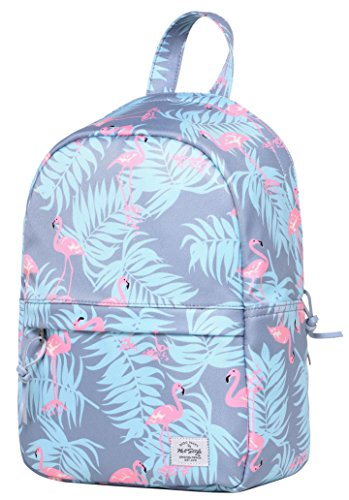 Flamingo Purse (OLETHA Mini Daypack Small Backpack Purse | Fits A4 Size Paper | 13