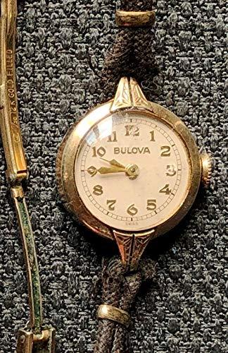 VINTAGE BULOVA SWISS MADE WOMEN'S WATCH GOLD FILLED STRAP FUNCTIONAL ()