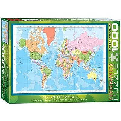 Eurographics 01271 Mappamondo Politica Puzzle 1000 Pezzi