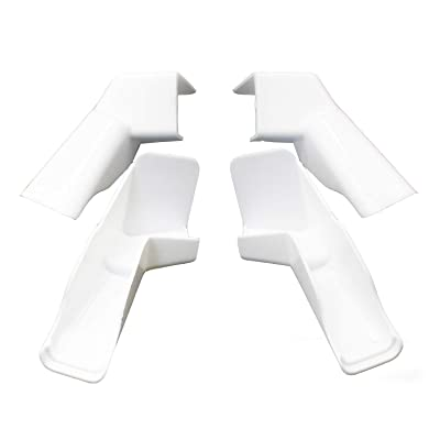 X-Haibei 4 Pack RV Rain Gutter Spouts Extensions, Directs Rainwater Away from Sides of RV, 2 Left 2 Right 3 1/2 inch Gutter Spouts (White): Automotive