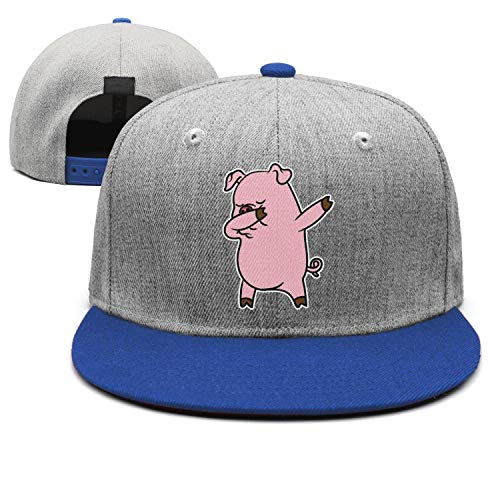 Blue Pink Dabbing Pig Unisex Classic All Cotton Trucker Cap Adjustable Fits Hip Hop Snapback Hats