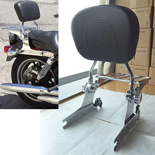 BBUT Adjustable Quick Detach Sissy Bar Backrest Rear Luggage Rack For Harley Softail Fatboy 2000-2006 2001 2002 2003 2004 - Pad 11 Inch Bar Sissy