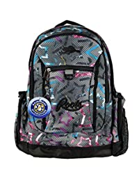 Roots 73 - Rainproof Durable 17.3-inch Laptop and Tablet 21L Backpack with Zipper Cable Pockets (Stars)
