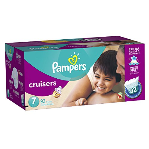 posable Diapers Size 7, 92 Count, ECONOMY PACK PLUS (Overnight Extra Protection)