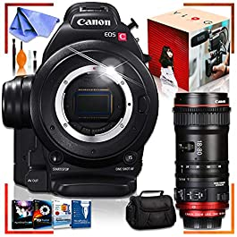 Canon C100 Cinema EOS Camera with CN-E 18-80mm T4.4 Compact-SERVO Cinema Zoom Lens, Corel Editing Kit (PC) Bundle