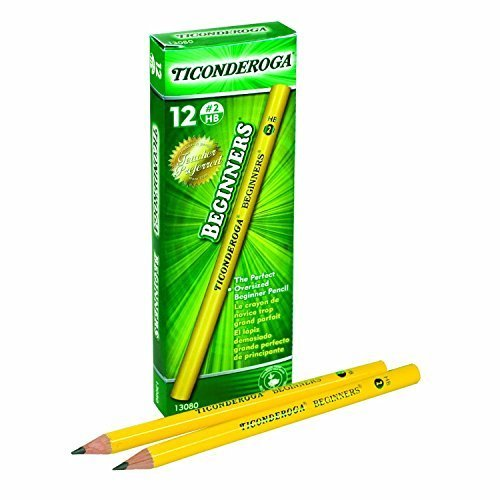 Dixon Ticonderoga Beginners Primary Size #2 Pencils Without Eraser, Box of 12, Yellow (13080)(2Pack) (Ticonderoga Beginners Wood Pencil)