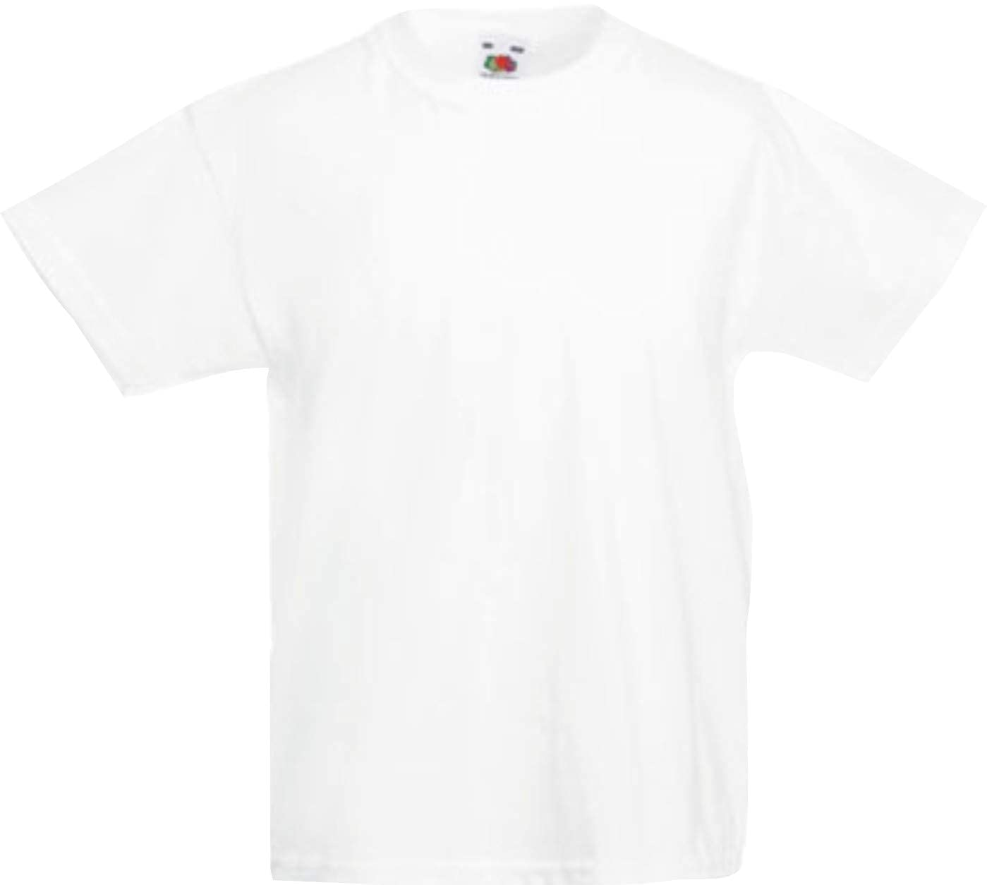 T-shirt Bambino Fruit Of The Loom Maglia Maniche Corte Scuola Recita Bimbi Bimbo Bambini 2 - 16 Anni Bambino: Abbigliamento