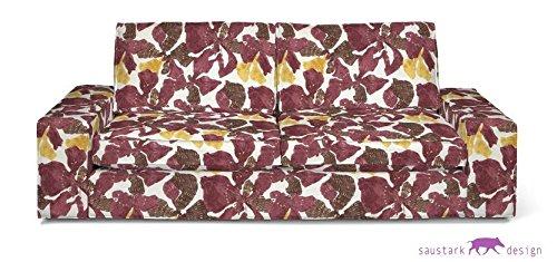 Saustark Design saustark design marbella cover for ikea kivik 3 seater sofa rosso