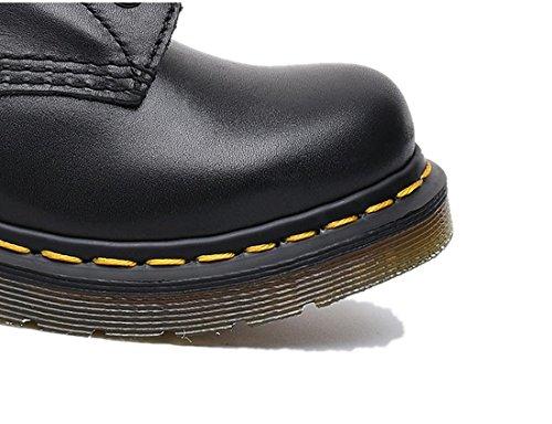 antidérapant Printemps Noir Couple Locomotive NVXIE Boots Courtes Lacer Appartement Neuf Femmes Anti Bottes Hiver Véritable EUR41UK758 Usure Cuir Dames Hommes Mode Automne Martin Chaussures FRUHF