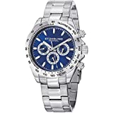 Stuhrling Original Men's 564.03 Concorso Raceway Quartz Tachymeter Day and Date Stainless Steel Watch