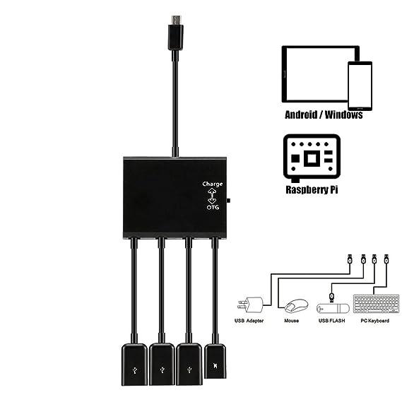 Amazon kirin micro usb hub adaptor with power 3 port charging kirin micro usb hub adaptor with power 3 port charging otg host cable cord greentooth Gallery