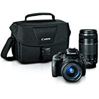 Canon EOS Rebel SL1 Digital SLR with 18-55mm STM + 75-300mm f/4-5.6 III Lens Bundle (Black)