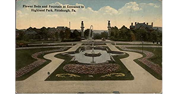 Amazon com: Flower Beds & Fountain at Entrance to Highland Park
