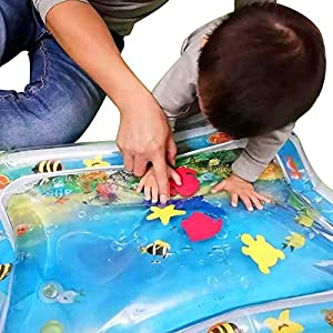 Oksea Inflatable Baby Tummy Time Water Mat for Toddler Fun Activity Play Leakproof Newborn Development Activities Mat…