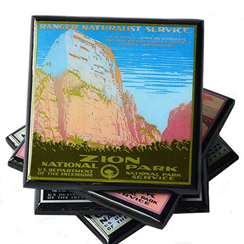 Vintage National Park WPA Poster Coaster Set by Cheltenham Road (Image #2)
