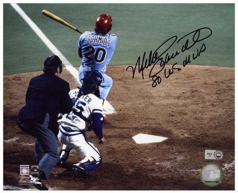 1980 World Series Mvp (Mike Schmidt Philadelphia Phillies Autographed 8