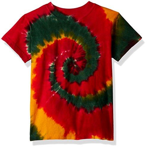 - Liquid Blue Kids' Little Rasta Spiral Short Sleeve T-Shirt, tie/dye, Small
