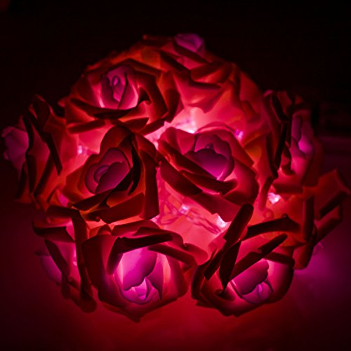 20led 2 2 M Fleur Rose Guirlande Lumineuse Mariage Garden Party