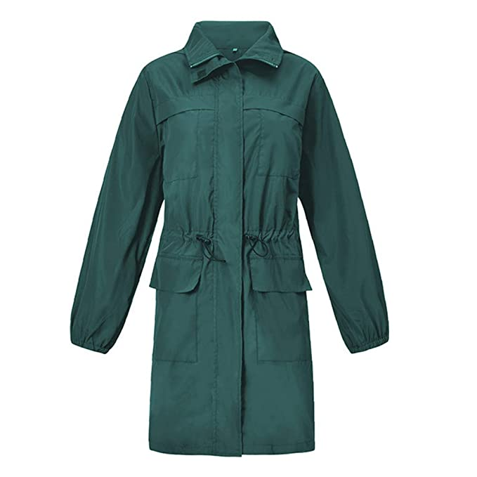 b9275c878f Amazon.com: Amiley Women's Raincoats Waterproof Lightweight Adults ...