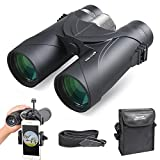 Binoculars, SEEKONE 10x42 Compact HD Binoculars for Adults with BAK4 Prisms, FMC Lens, Smart Phone Adapter for Bird Watching, Traveling, Hiking, Clear Vision, Easy Focus, Ultra-Wide Field of View
