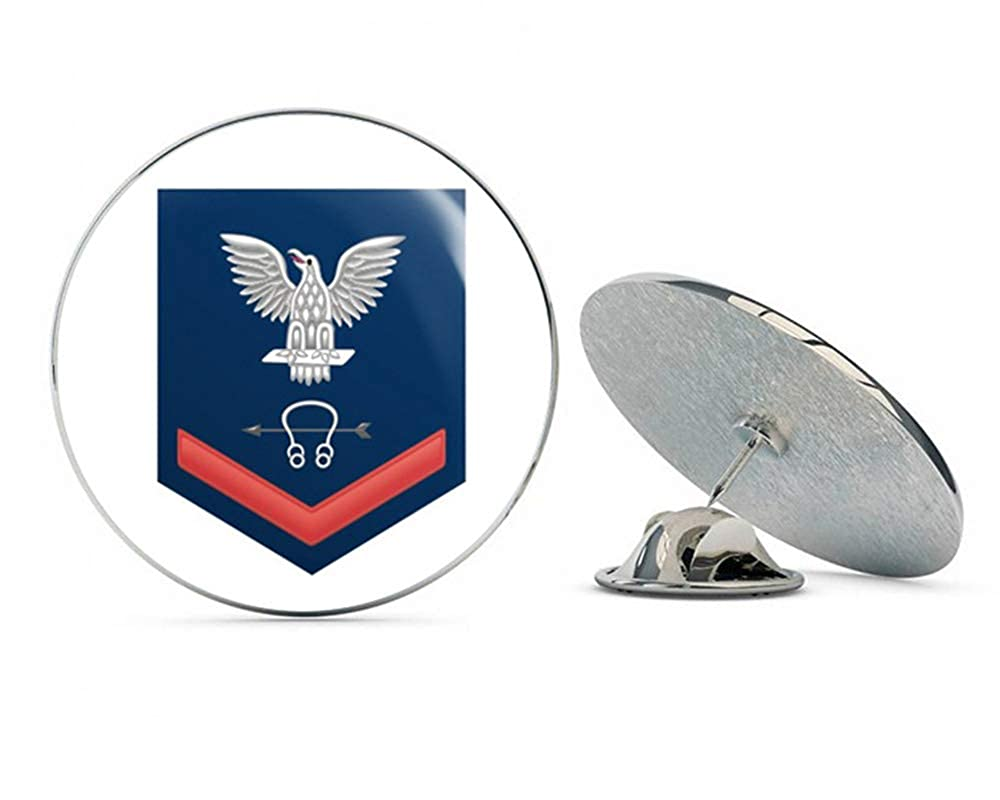 US Navy Red E-4 Sonar Technician ST Military Veteran USA Pride Served Gift Metal 0.75\' Lapel Hat Pin Tie Tack Pinback Veteran Pins