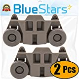 Ultra Durable W10195416 Lower Dishwasher Wheel Replacement by Blue Stars - Exact Fit for Whirlpool & Kenmore Dish Rack - PACK OF 2