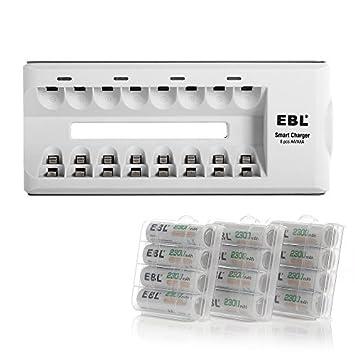 Amazon.com: EBL 12 unidades 2300 mAh alta capacidad ...