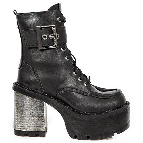 New Tacco seve27 Stivaletti Pesante Urbano Signore M Rock Rock Lace Up Gothic Nero Punk s1 Donna Da rREzwrq