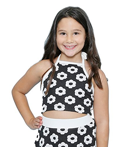 - Lanoosh Girls' Daisy Halter Crop Top SMALL (6-7)