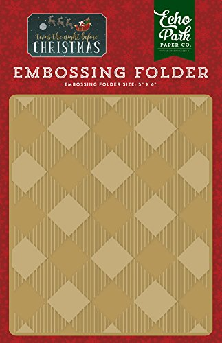 - Echo Park Paper Company Embossing Folder -Buffalo Plaid