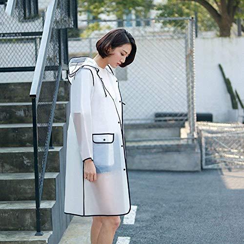 À De Un Translucide Respirant Manches Femmes À De Étanche Simple Air Cap Mode Casual Glamour Poncho Capuche Pluie Longues Élégant En Veste Pluie Plein CwqwvgX